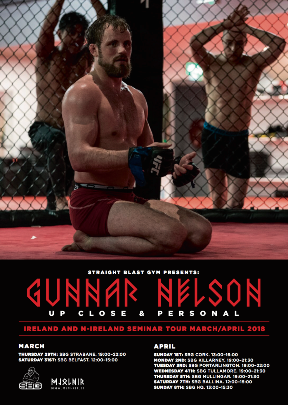 Gunnar Nelson seminar tour in Ireland