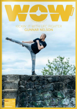 Gunnar in WOW Air magazine